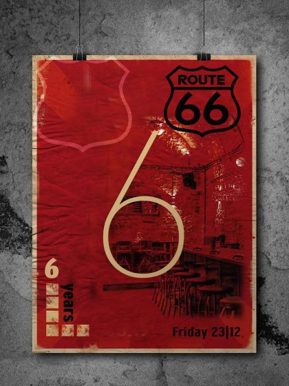6 years Route 66 Poster for Route 66 Bar