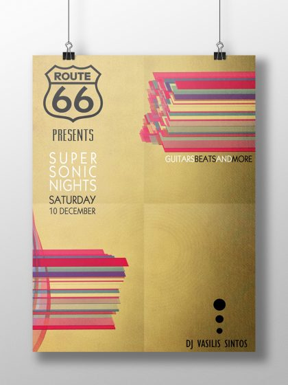 Poster for Bar Route 66 Guitars Beats and more