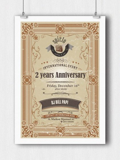 Poster for spir.to Coffee & Bar - 2 years Anniversary